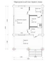 Схема бани 5,4 Х 8,1