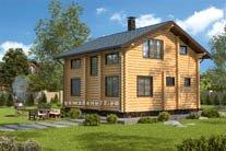 Дом 10,8 Х 8,3 вид слева