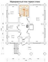Дом 10,8 Х 8,3 план первого этажа