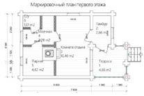 Баня 7,5 Х 4,5 план первого этажа