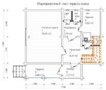 Дом 7 Х 7,7 план первого этажа