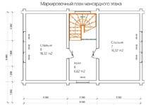 Дом 9 Х 7 план мансардного этажа