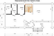 Дом 6 Х 12 план первого этажа