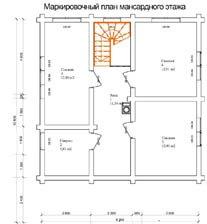 Дом 10,8 Х 8,3 план мансардного этажа